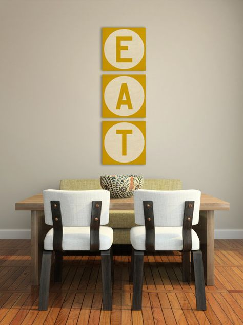 Not DIY but can make it with stencil - Kitchen Decor Canvas Wall Art
