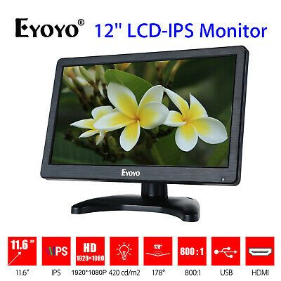 Ebay Link Ad Eyoyo 12 Inch Hd Lcd Security Monitor Screen Input Audio Video Display For Pc Computer Camera Monitor Audio Video