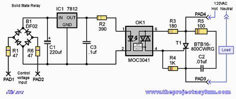 Solid State Relay With 16a Scr Optical Trigger Electronic Circuit Design Circuit Diagram Electronics Circuit