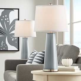 Software Gray Leo Table Lamps Set Of 2 In 2020 Table Lamp Sets Modern Table Lamp Lamp Sets