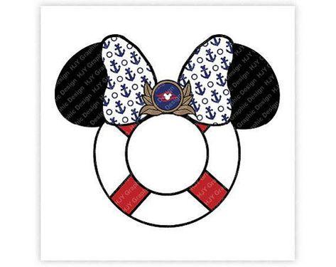 Disney, Mickey, Minnie, Captain, Cruise line, Mouse, Icon, Head, Ears, Digital, Download, TShirt, Cu