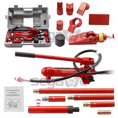 Porta Power Hydraulic Jack Body Frame Repair Kit Auto Shop Tool Lift Ram 4 Ton Ebay Kit Cars Car Shop Repair