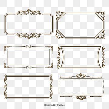 Frame Vector Frame Vector Set Frame Decorate Square Frame Border Luxury Vintage Modern Retro Ornament Shape Geom Frame Border Design Retro Vector Doodle Frames