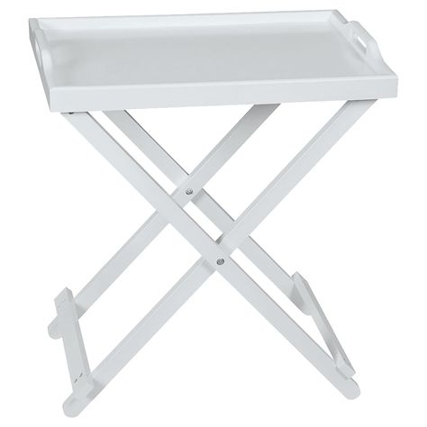 Top Home Solutions White Wooden Folding Butler Tray