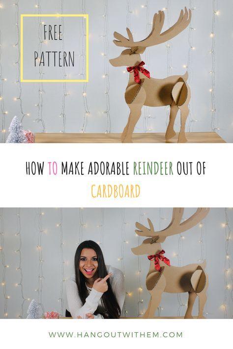 Adorable Reindeer Out Of Cardboard