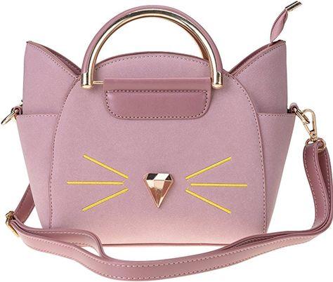QZUnique Women's Summer Fashion Top Handle Cute Cat Cross