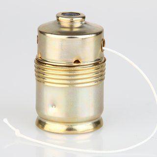 E27 Lampenfassung Metall Vermessingt Mit Zugschalter Lampen Schalter Metall