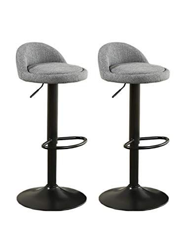 2x Bar Office Chairs Breakfast Stool Adjustable Height Swivel Counter Chairs UK