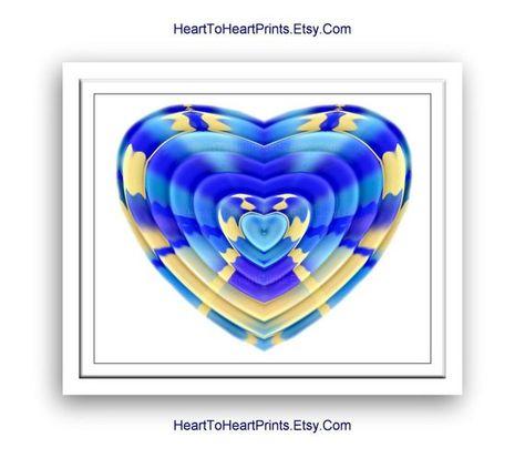 Blue Heart Wall Art Baby Blue Wall Decor Blue Nursery Art Etsy Blue Wall Decor Heart Wall Art Baby Wall Art