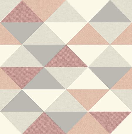 Mg41301 Peel And Stick Wallpaper Pink And Grey Wallpaper Pink Geometric Wallpaper