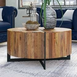 Wedge Solid Coffee Table Coffee Table Rustic Coffee Tables