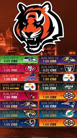 Cincinnati Football Schedule 2019 Cincinnati Bengals 2019 Mobile City NFL Schedule Wallpaper | 2019