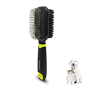 Fastingdog Dog Grooming Slicker Brush Cat Dog Grooming Slicker Massage Brushes Soft Bristle Bath Brush For Cats Double Sided Spring Comb Shedding Grooming To In 2020 Dog Grooming Dog Brushing Grooming Tools