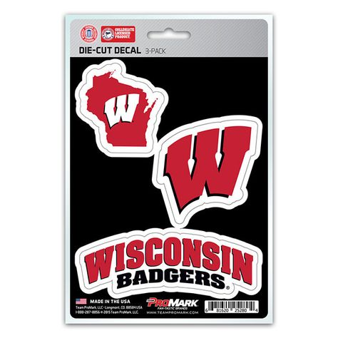 Team Color 11x17 NCAA Wisconsin Badgers Ultra Decal Sheet