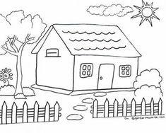 Gambar Rumah Untuk Mewarnai Anak Tk Paud Di 2020 Buku Mewarnai Warna Buku Gambar