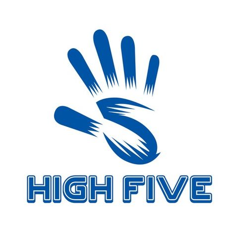 High Five Logo for YouTube Videos Logo design contest winning#design