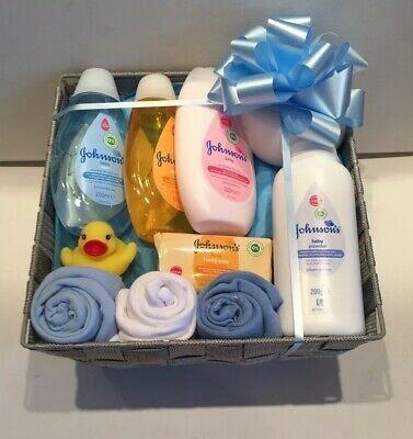 Baby Gift Hamper Basket Maternity Shower Gift Johnsons Baby Unisex New Baby Gift