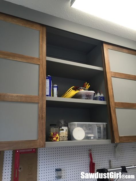 Easy Diy Sliding Doors For Cabinets With Images Sliding