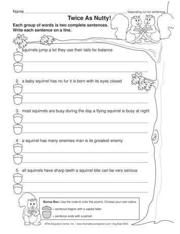 This Language Arts Worksheet Gives Students Practice Editing Run 1st Grade Writing Worksheets Writing Sentences Worksheets Counting Worksheets For Kindergarten Language arts worksheets for graders