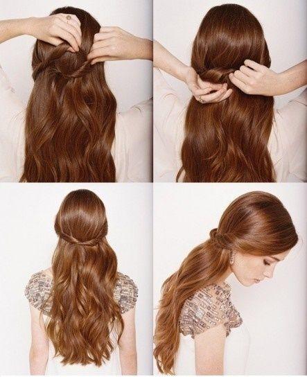 Peinados Para Cabello Largo Liso Semirecogido Paso A Paso Peinados Faciles Pelo Corto Peinados Faciles Y Rapidos Peinados Pelo Ondulado