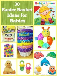 Baby girls first easter basket ideas with links for purchasing easter basket ideas for baby negle Images
