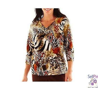 $26.50: Alfred Dunner® Bryce Canyon Tribal Print Knit Top