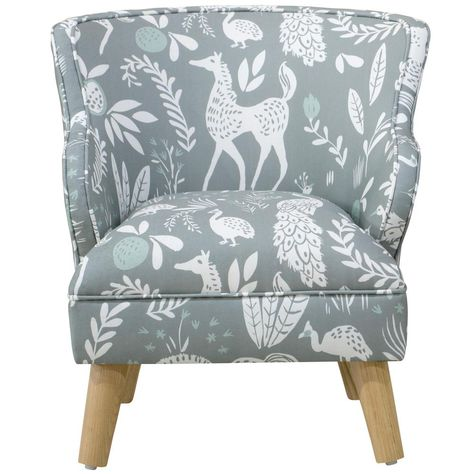 Skyline Furniture Hatfield Fauna Grey Ground Mint Kid S Modern