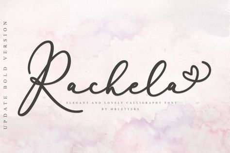 Rachela Script BOLD $1 Limited time offer By MrLetters | Stock Art