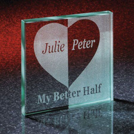 Date ideas and relationship gifts Personalized Better Half Glass Keepsake Block Boost Your Confidenc Homemade Gifts For Boyfriend, Creative Gifts For Boyfriend, Cute Boyfriend Gifts, Bf Gifts, Diy Gifts For Him, Valentines Gifts For Boyfriend, Boyfriend Birthday, Customized Gifts For Boyfriend, Christmas Gifts For Girlfriend