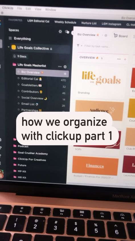 how we organize our life and business with clickup