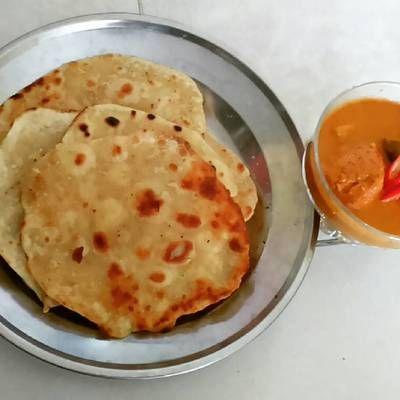 Paratha Roti Canai Kari Ayam Resep Kari