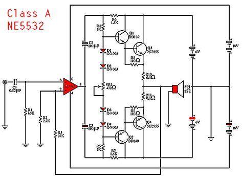 ne5532 class a power amplifier \u2013 2019 audioCircuit Diagram As Well Class Ab Audio Lifier Circuit Besides #5