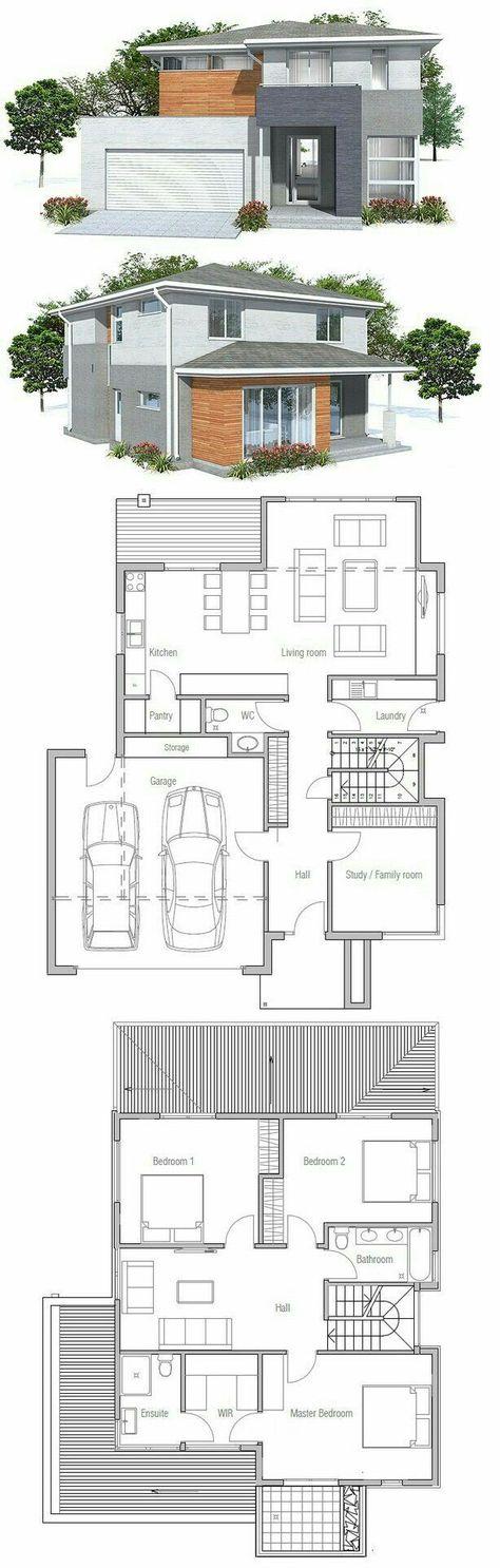 Garage in musikzimmer und büro teilen ok Pinterest Modern - plan d une belle maison