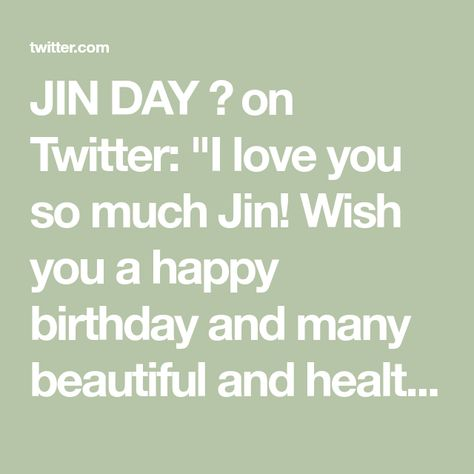 JIN DAY 🥰 on Twitter