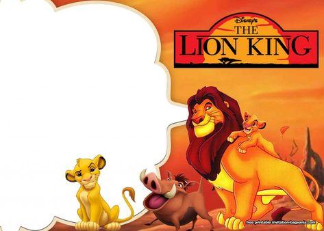 8 Free Printable Lion King Invitation Templates Festa Do Rei