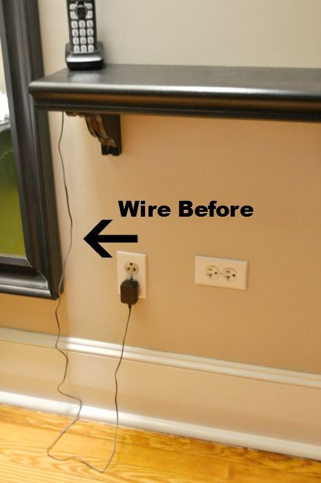 using command hooks to hide wires behind mirrors | Hide wires, Hide cords on  wall, Hide wires on wallPinterest