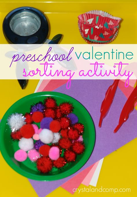 Valentine Inspired Sorting Activity from Crystal & Co.