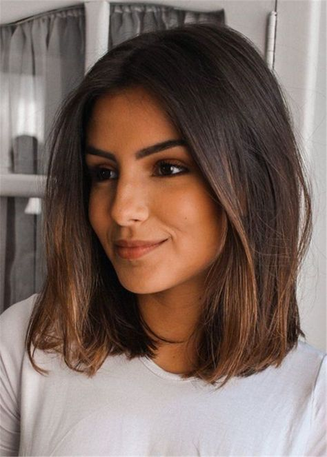 61 Ideas Haircut Brunette Medium Straight Hair Styles Medium Hair Styles Medium Length Hair Styles