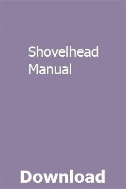 Shovelhead Manual Repair Manuals Manual Ford Tractor Parts