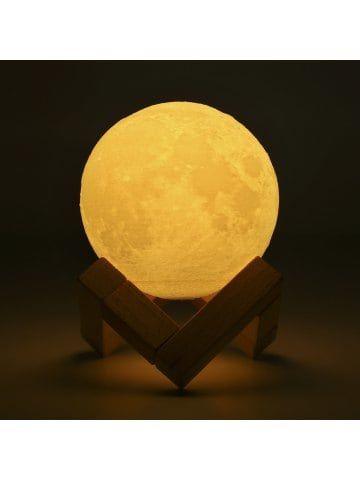 Lampwin Rechargeable 3D Print Moon Lamp 8cm 2 Color Change