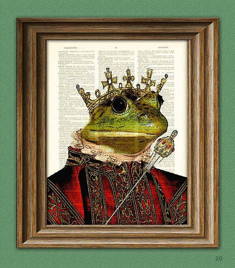Noch nie geküsst worden königliche König Frosch Abbildung