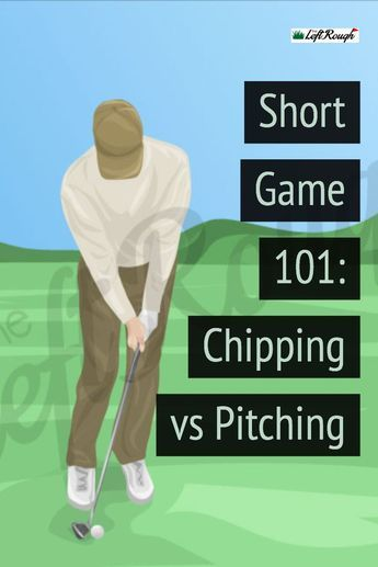 Much of the short game in golf comes down to shot selection. In this simple guide, we break down exactly when to hit a pitch shot vs chipping. Short Game Golf, Golf Chipping Tips, Golf Score, Golf Exercises, Workouts, Golf Practice, Club Face, Golf Instruction, Golf Tips For Beginners