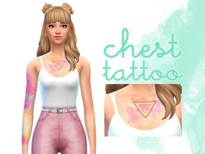Image Result For Watercolor Tattoos Sims 4 Sims 4 Sims Sims 4