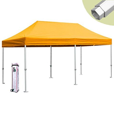 Eurmax Pro 10x20 Easy Pop Up Tent Carport Canopy Gazebo Shelter With Roller Bag Gold Read More At The Image Link This Canopy Tent Carport Canopy Canopy