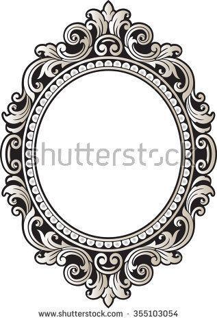 Image Result For Vintage Oval Frames Vector Vintage Borders Vintage Frame Tattoo Framed Tattoo