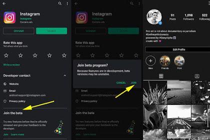 Cara Mudah Memasang Instagram Dark Mode Di Android Dan Iphone Iphone Android Instagram