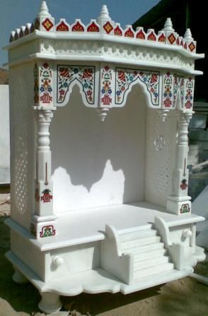 Pooja ghar on pinterest puja room marble crafts and for Home mandir designs marble