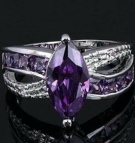 Pin By Beauball Nammon On Ring In 2019 Purple Jewelry Purple