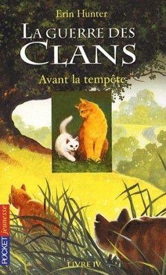 Couverture de La Guerre des clans, tome 4 : Avant la tempête