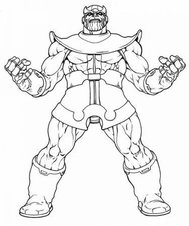 Thanos Ausmalbilder Vingadores Para Colorir Desenhos Para